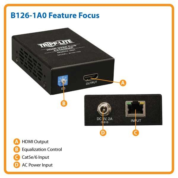 New Tripp Lite B126-1a0 Hdmi Over Cat-5 Active Extender Remote Unit Boosters, Extenders & Antennas Home Networking & Connectivity