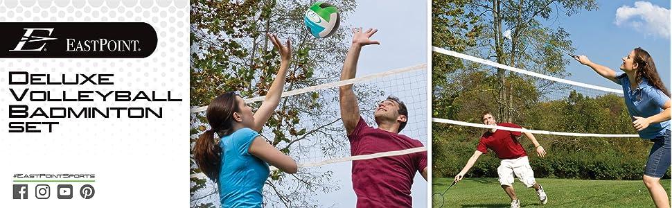 Volleyball Badminton Net Set