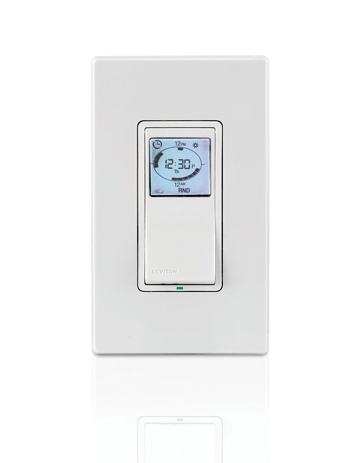 Leviton vpt24 1pz vizia 24 hour programmable indoor timer with from the manufacturer aloadofball Choice Image