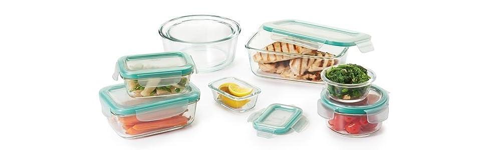 Amazon Com Oxo Good Grips Smart Seal Leakproof Glass Food