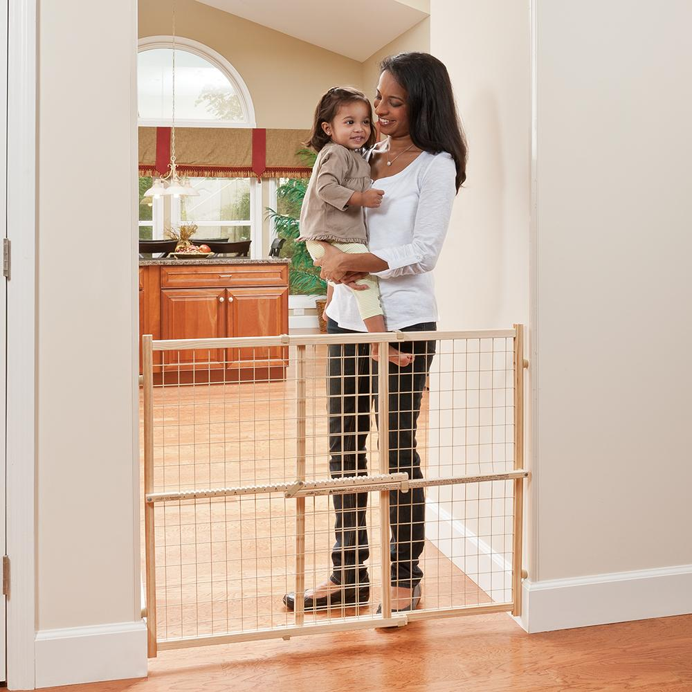 Amazon Com Evenflo Position And Lock Tall Pressure Mount Wood Gate