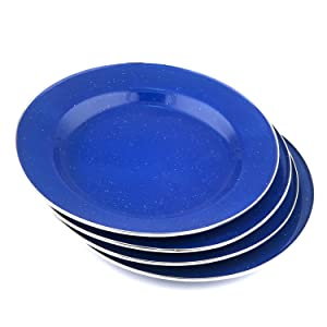 Stansport Enamel Camping Tableware Set 24 Piece Blue Amazonca