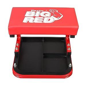Torin big red rolling creeper garage shop seat for Garage seat 91