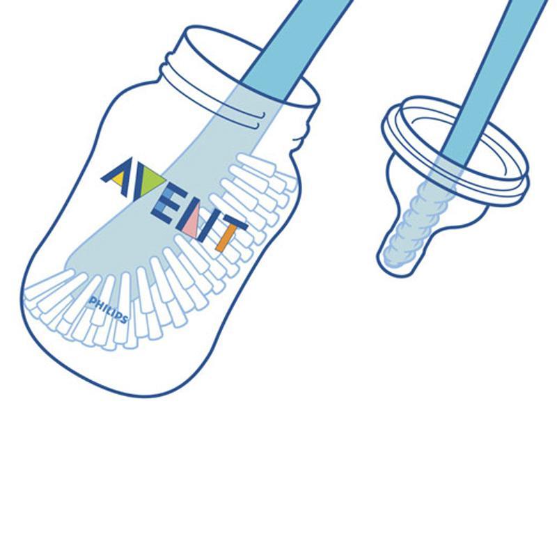 Philips Avent Baby Bottle Brush Pack of 6 Blue SCF145//06
