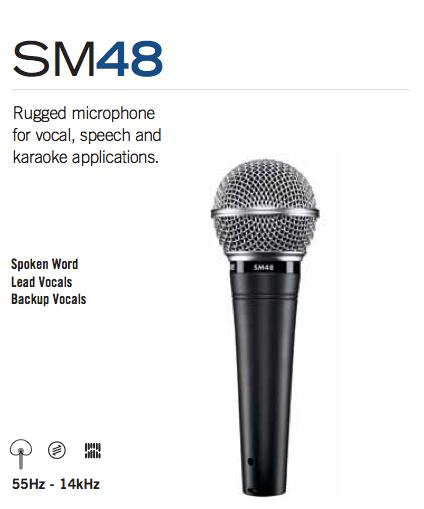 Dynamic Microphone Specs : shure sm48 lc vocal dynamic microphone cardioid musical instruments ~ Hamham.info Haus und Dekorationen