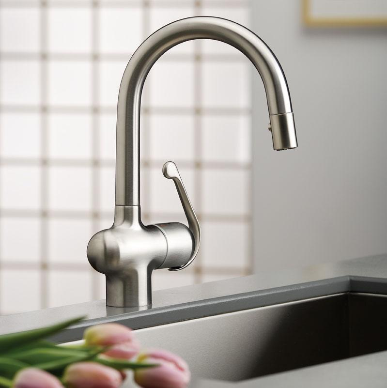 handle kitchen oil prep bronze pullout spray sink faucets single ruvati rubbed with deck products faucet plate