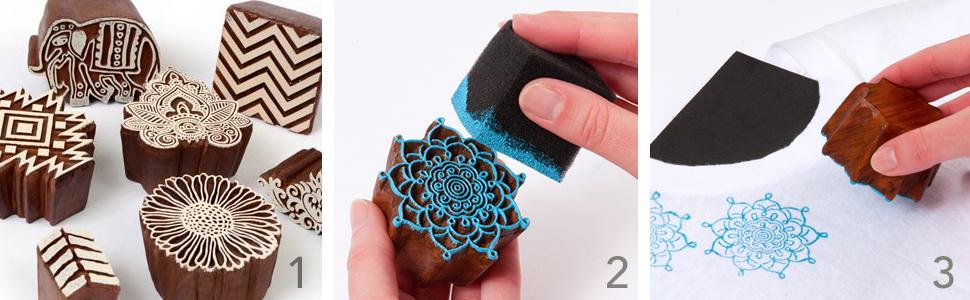 fabric creations block stamp printing