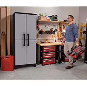 Amazon Com Keter Space Winner 5 6 Quot Tall Utility Cabinet