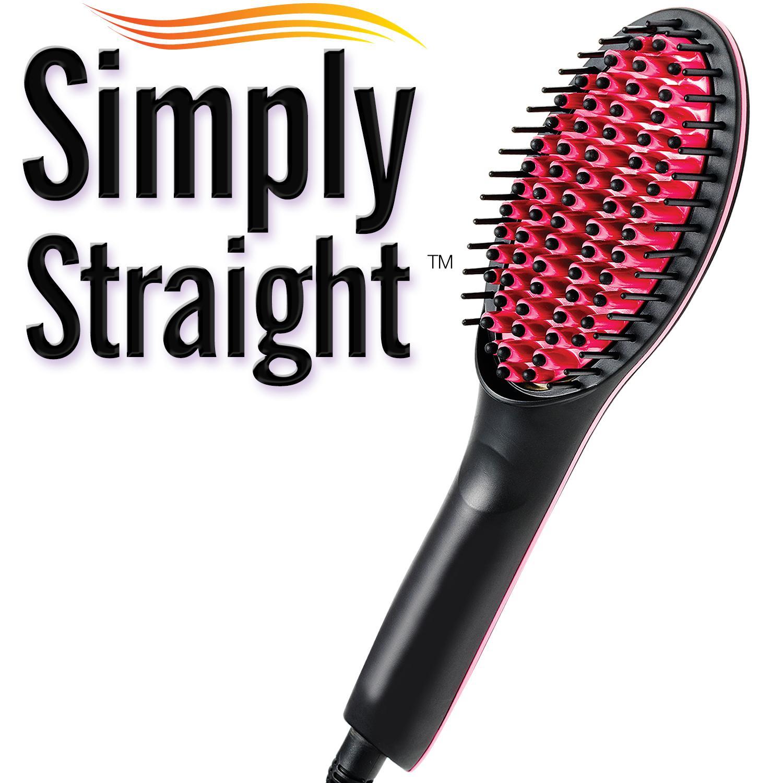 Simply Straight Ceramic Straightening Brush Hair