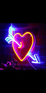 ADVPRO LED Neon sign light-ing Dual-color Love Lovers Valentines heart sweet Flex Silicone bright