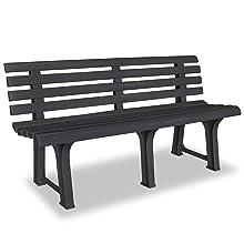 metal bench black