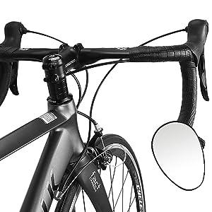 wishing Espejo Retrovisor Bicicleta, Espejo de Barra con Extremo ...