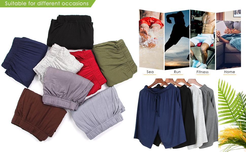 YAOMEI Men's Pyjamas Bottoms Shorts , Nightwear Underwear Boxer Casual Trunks Trousers Pants