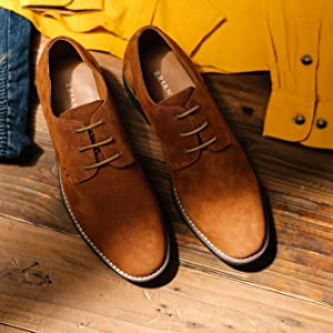 Details about  /Mens Work Oxfords Lace up Round Toe Polish Casual Retro Business Leisure Shoes L