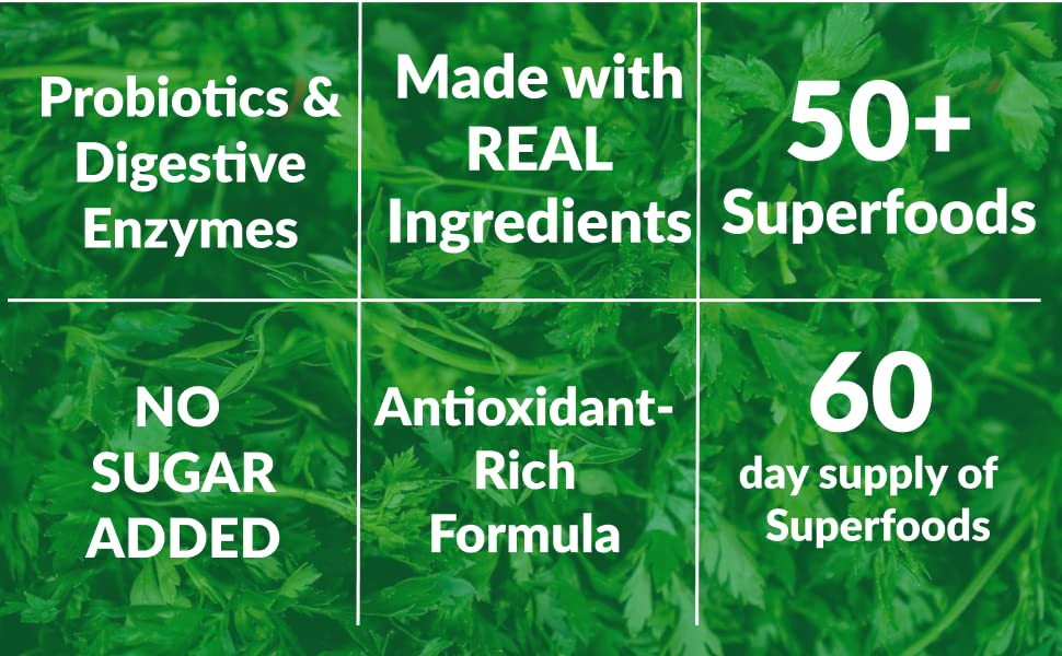 antioxidant rich formula unique blends daily superfoods reds green probiotic digestive enzymes