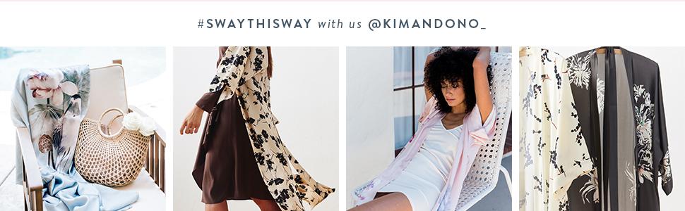 KIM+ONO Women's Kimono Robes Crepe Silk Sway This Way #swaythisway with us @kimandono_