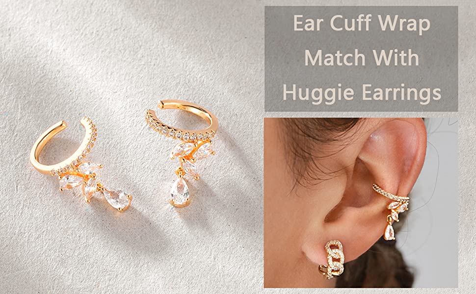 drop earrings clip