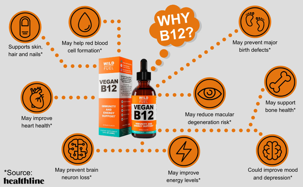 Wild Fuel sublingual vegan B12 liquid benefits