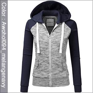 melangenavy womens hooded sweatshirt