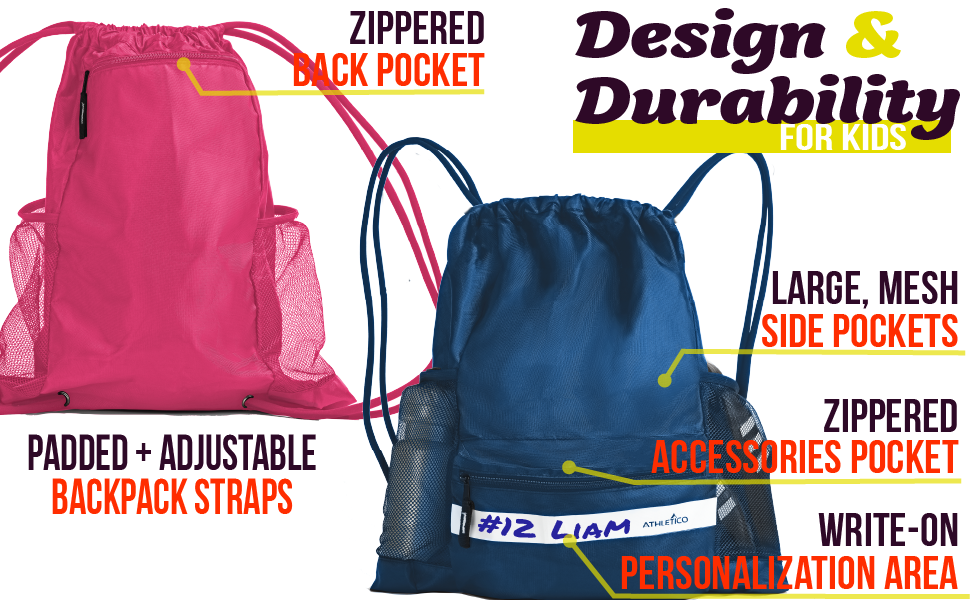 Athletico Drawstring Soccer Backpack - The Best Drawstring Bag on Amazon