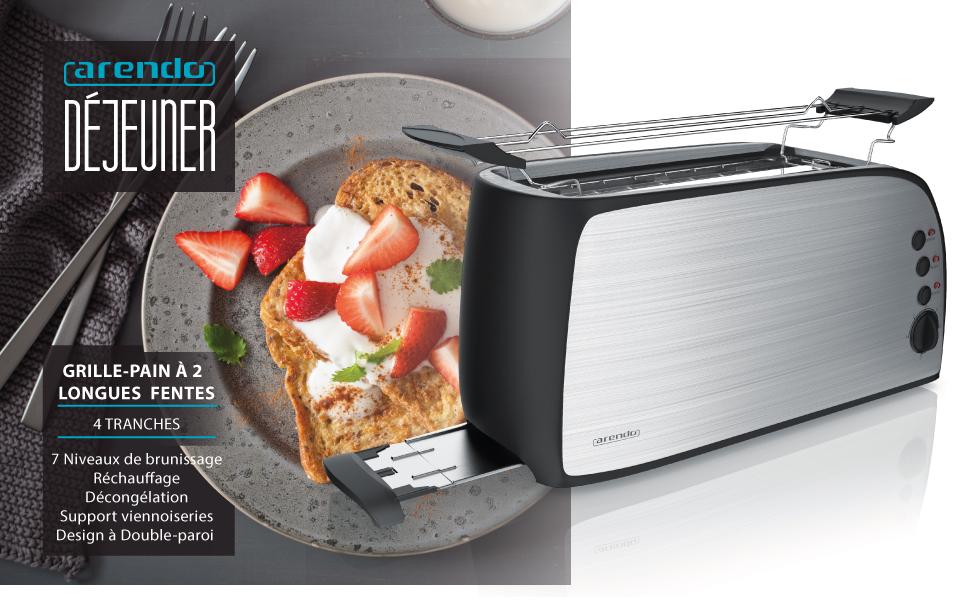 301829 Grille-pain Déjeuner Gris
