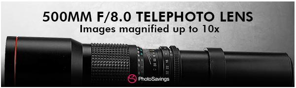 500mm telephoto lens
