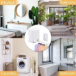 Hotel Laundry Balcony Bathroom