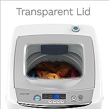 portable washing machine transparent lid