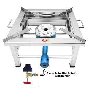 stainless steel bhatti gas stove single burner