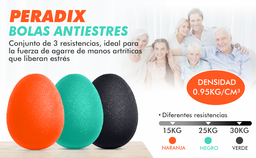 Peradix Excel Pelota Rehabilitacion Mano,Terapia Ejercicio Mano ...
