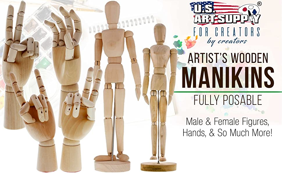 Artists Wooden Manikins Fully Posable