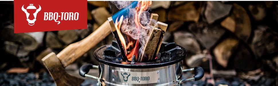 BBQ-Toro Horno de Cohetes Rakete #1 I Acero Inoxidable I Para Horno Holándes I Sartenes de BarbacoaHolandés, Sartenes de Parrilla y mucho más