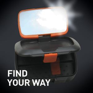 lightweight preparedness signal weather mirror flash fire starter striker steel rod pins survival