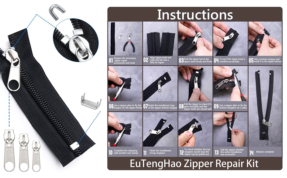 EuTenghao Zipper Instructions