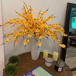 artificial orchids yellow