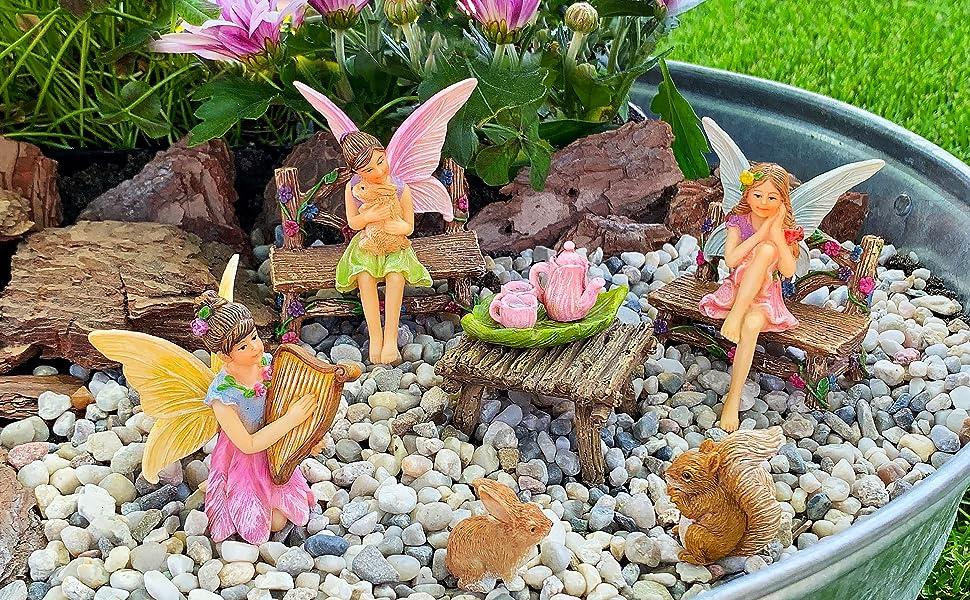 Amazon Com Mood Lab Fairy Garden Miniature Figurines And