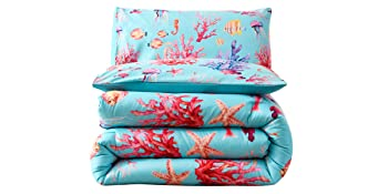coral comforter