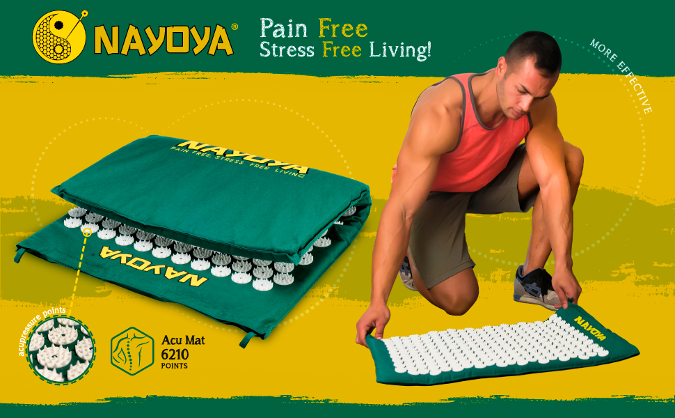 Amazon.com: Nayoya Acupressure Mat for at Home Back Pain ...