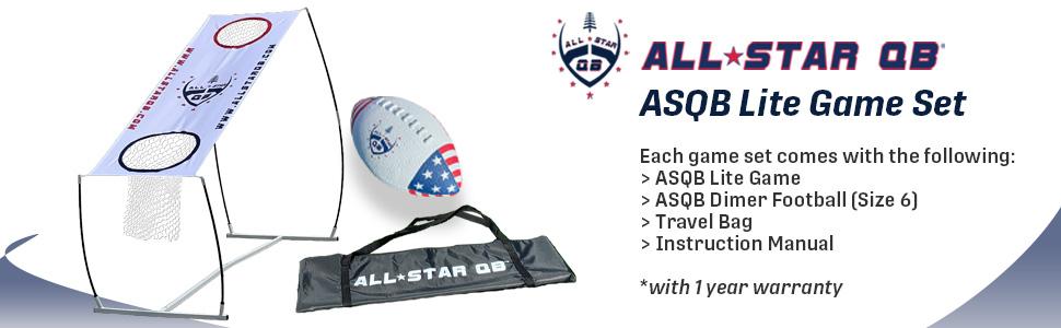 ASQB Lite, All Star QB, Football Throwing Net Game Set