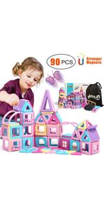 90PCS Castle Magnetic Blocks Toys Magnet Tiles