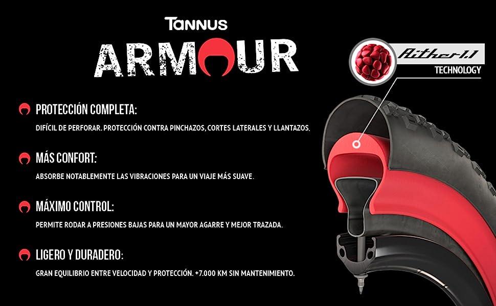 "Tannus ARMOUR 26"" x 1,95 a 2,5 | Semi-Mousse Antipinchazos"