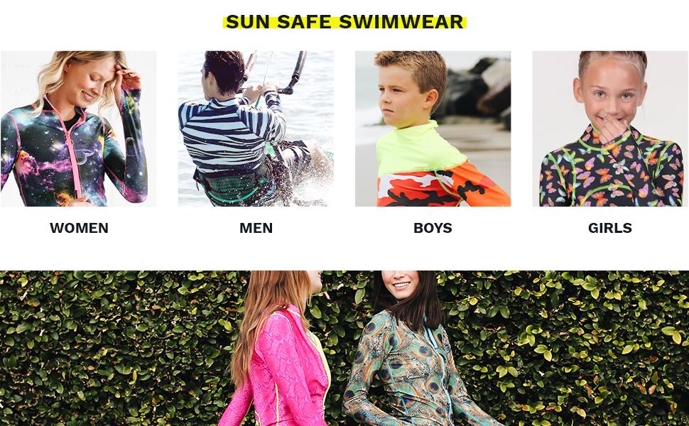 Tutublue, Swimsuits, Swimwear, Rashguards, Long Swim Suits, Kids, Adults, Women, Men, Boys, Girls