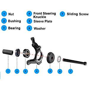 Outil de d/épose et dinstallation de roulements Installation de lextracteur de d/émontage du Support de moyeu de Direction pour roulement de 2~14 mm Noir