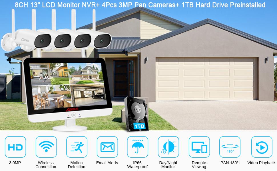 anran 3mp security camera system
