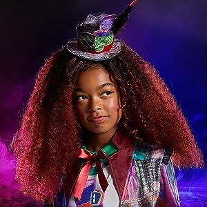 Disney Store Descendants 3 CELIA Facilier Costume Wig Top Hat Kids Size Med NEW