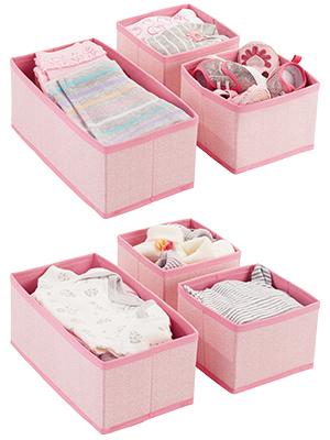 in-drawer fabric bin small mini long sturdy clothing socks square short tall fit