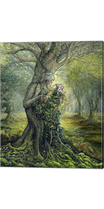 Dryad and The Tree Spirit by Josephine Wall