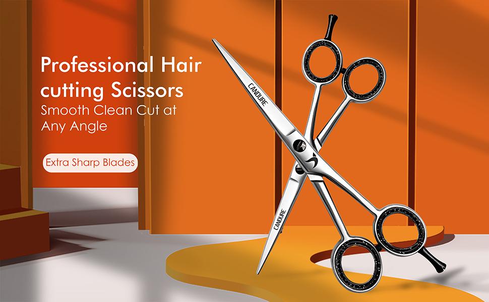 Hair Cutting Shears - For Salon Barbers, Men, Women, Children and Adults