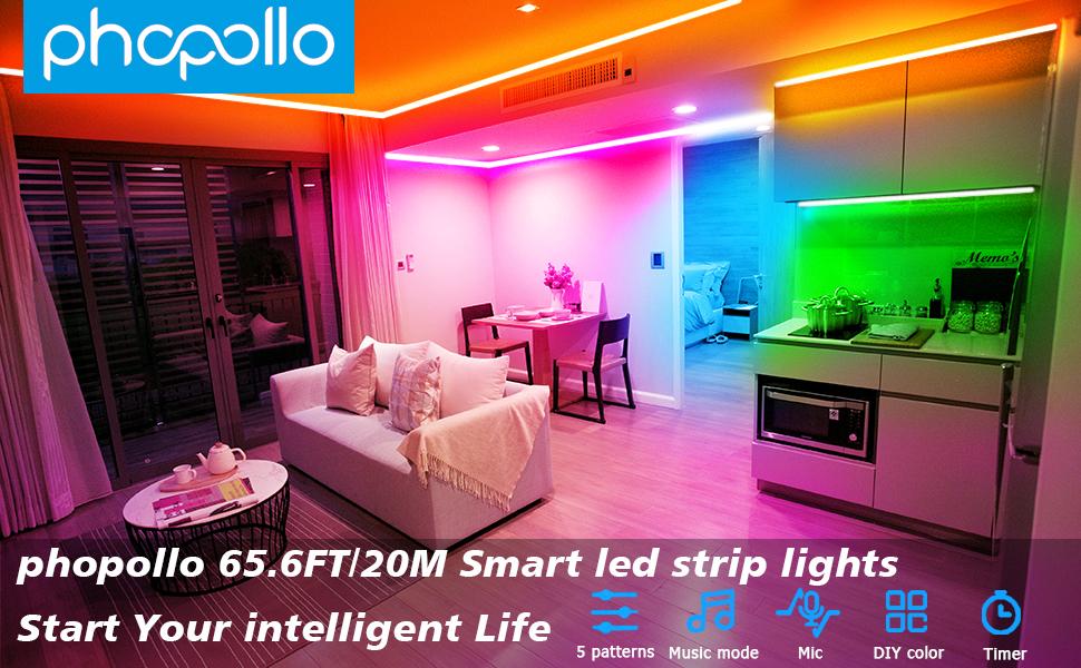 led light for bedroom 65ft