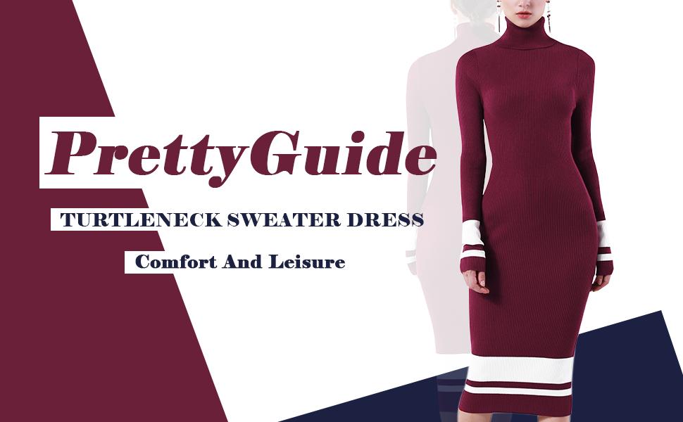 Turtle Neck Sweater Dress,long sweater dress,